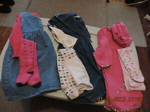 Girl's Size 4T Dresses with Tights