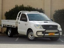2008 Toyota Hilux KUN16R MY08 SR White 5 Speed Manual Cab Chassis Blair Athol Port Adelaide Area Preview