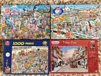 4 Jigsaws - 1000 piece - Immaculate