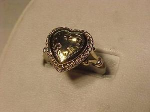 #3179-10K YELLOW GOLD HEART LOCKET RING-SIZE 8-SHIP CANADA ONLY-$7.50-LAYAWAY AVAILABLE-EMAIL BANK TRANSFER ACCEPTED