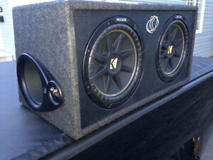 """2-12"""" Kicker Subs/Ported box + MTX Amp and Capacitor"""