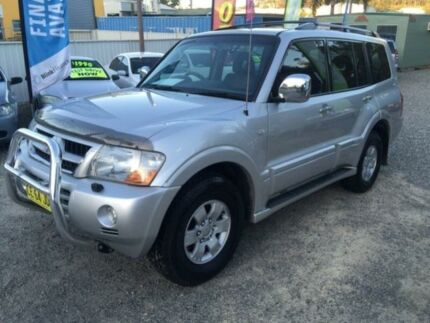 2003 Mitsubishi Pajero NP Exceed LWB (4x4) Silver 5 Speed Auto Sports Mode Wagon Jewells Lake Macquarie Area Preview