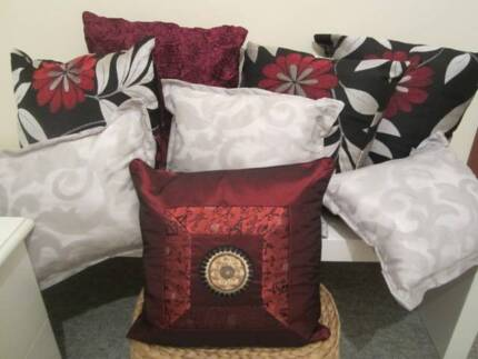 Cushion Set- Black/ Red/ Burgandy/ Grey-EX DISPLAY HOME Riverton Canning Area Preview