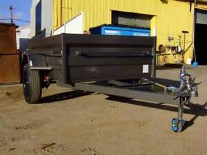 7x4 Heavy Duty Box Trailer 500mm Sides RHS Chassis 5 Leaf Springs