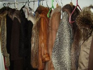 Fur coats for sale $ 30.00 each or $ 200.00 for all