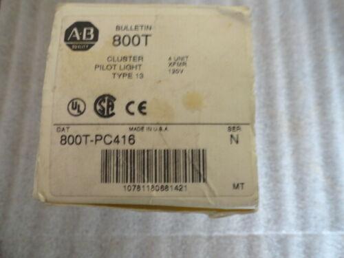 ALLEN BRADLEY 800T-PC416 / SER. N / CLUSTER PILOT LIGHT