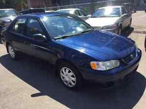 HERE WE HAVE A  2002 TOYOTA COROLLA, A/C, POWER GROUP, VERY CLEA