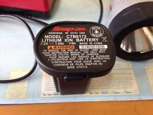Snap On 7.2 Volt Rechargeable battery ( Lith ion ) Fulham Gardens Charles Sturt Area Preview
