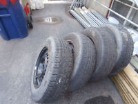 1 set of195/70/14 good year summer tires with rims 5 bolt do not