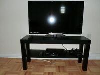ensemble televiseur + blu ray + meuble tv