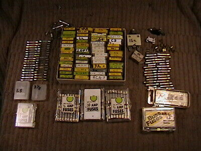 250 Buss Littelfuse Fuse Lot Various Gjv Gma 3ag Mostly Low Amp 59 Small Boxes
