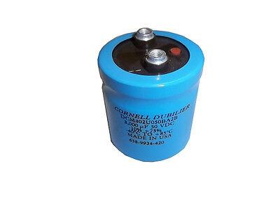 Cornelldubilier Dcm802u050ba2b 8000uf -1075 50vdc Capacitor Made In Usa