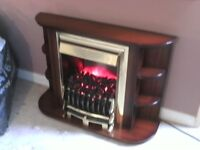 Electric fire in a surround
