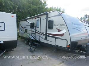 2016 KEYSTONE PASSPORT 2510RB FOR SALE*COUPLES TRAILER