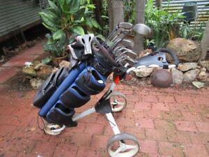 golf clubs, good first upgrade.