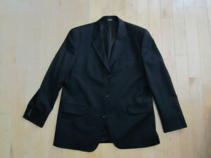 46R jacket and 36 inch waist Black Banana Republic Suit