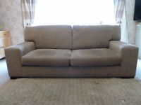 3-Seater Fabric Sofa with Matching Cushions - Quality Item in Very Good Condition