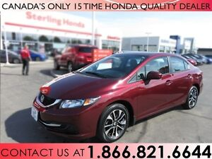 2014 Honda Civic EX | 1 OWNER | NO ACCIDENTS | SUNROOF