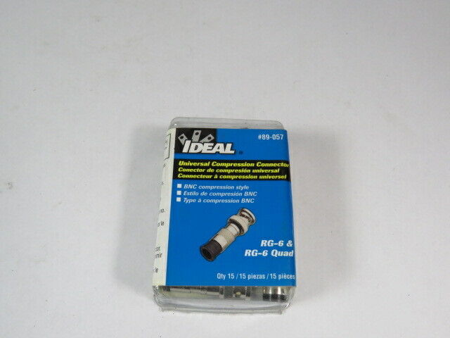 Ideal 89-057 *Sealed* Universal Compression Connection 15-Pk  NEW