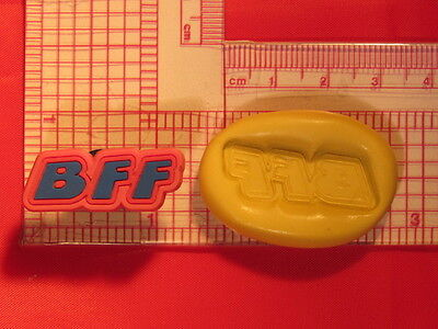 Best friend BFF silicone push mold A804 for fondant chocolate resin candy