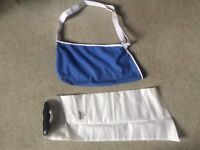 Broken Wrist Equipment - Water cover for plaster cast & a sling - size medium