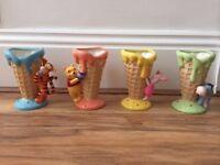 4 Beautiful Winnie the Pooh Ice Cream Holders