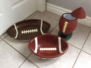 Football Themed Snack Serving Dishes & Containers