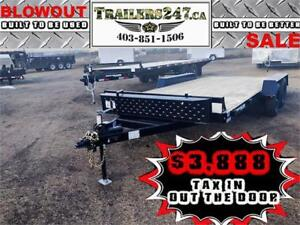 NEW 2019 SOUTHLAND 16FT CAR HAULER-ENCLOSED WIRING, 7000# GVWR