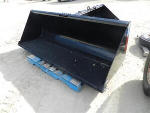 Qty of Skid Steer Attachments Blades, Buckets Sweeper Trencher