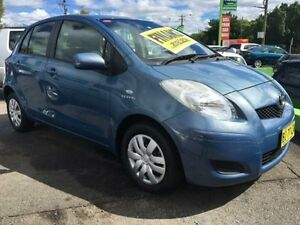 2010 Toyota Yaris NCP90R MY10 YR Blue 4 Speed Automatic Hatchback Lidcombe Auburn Area Preview
