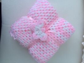 Baby Girl's Crocheted Blanket £25.00