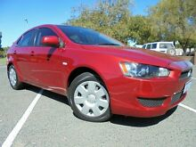 2011 Mitsubishi Lancer CJ MY11 ES Sportback Red 6 Speed CVT Auto Sequential Hatchback Welshpool Canning Area Preview