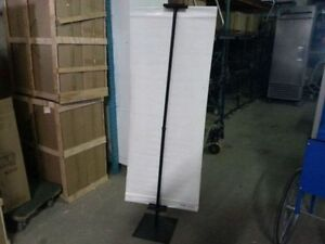2 Black poster stand lot! Great promotion! Save