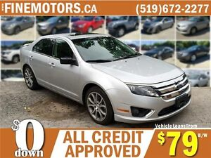 2012 FORD FUSION SE * POWER ROOF * LOW KM * CAR LOANS FOR ALL