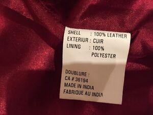 Women's Red Leather Jacket Cambridge Kitchener Area image 5