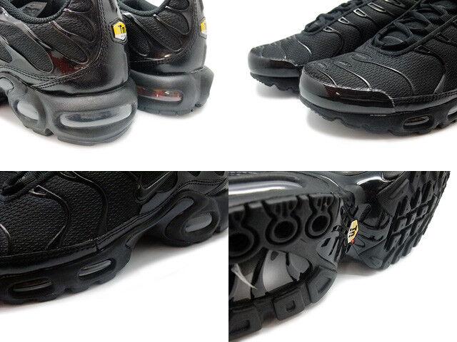 save off 87b2c 1979c ... Nike Air Max Plus TN 1 Triple Black 100%AUTHENTIC 604133-050 Men Running