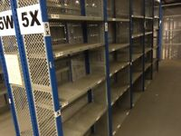 job lot 5 bays dexion impex industrial shelving 2.4m high!( storage , pallet racking )