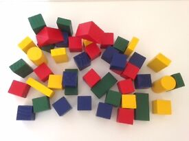 Wooden building blocks Waldorf learning toys