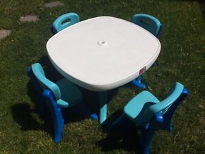 Adorable set of kids' outdoor table and chairs