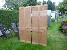 Lattice bifold doors
