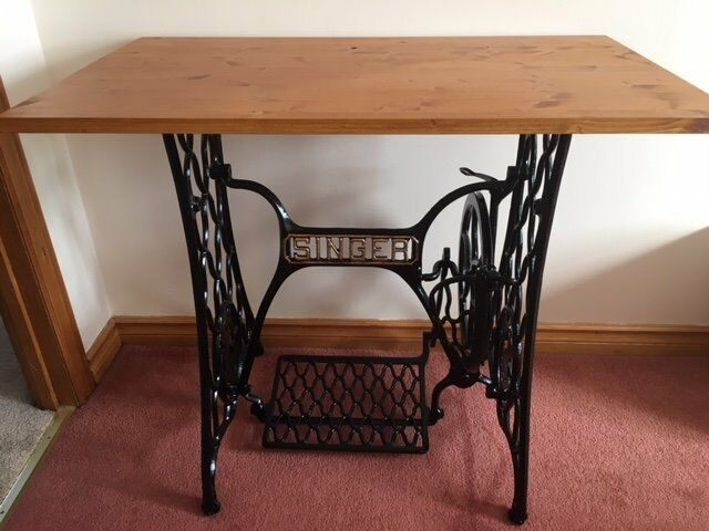Antique Singer sewing machine table Upcycled original vintage cast Classy Original Singer Sewing Machine Table