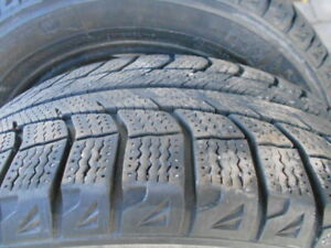 Michelin X ice 205 55 16 snow tires, Audi rims
