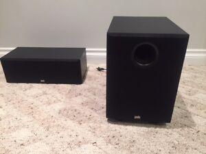 PBS Canadian subwoofer and center speaker