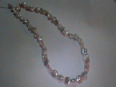 Strand Super THICK Nacre Silvery Coin Pearls Uniform 8 MM Luster Like CrAzY !