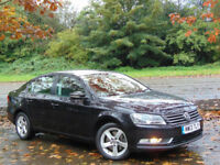VOLKSWAGEN PASSAT 2.0 S TDI BLUEMOTION TECHNOLOGY 4d 139 BHP (black) 2013