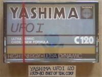 A2Z VERY RARE NEW / SEALED YASHIMA / TDK UFO I 120 ULTRA FERRIC OXIDE CASSETTE TAPES. 1979-1980.