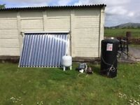 Solar Panel Water Heater - Complete System
