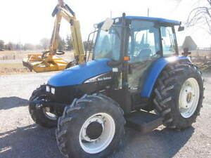 2004 New Holland TL90 Tractor with Mower