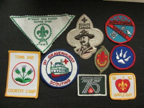 Worldwide Boy Scout Patch Lot of 9       NPC5