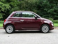 FIAT 500 1.2 LOUNGE 3d 69 BHP (red) 2016